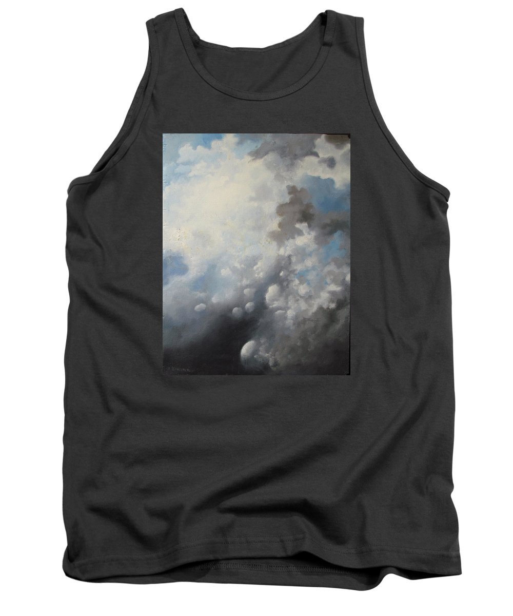 Clouds Tank Top featuring the painting Skywards by Adriaan Brolsma