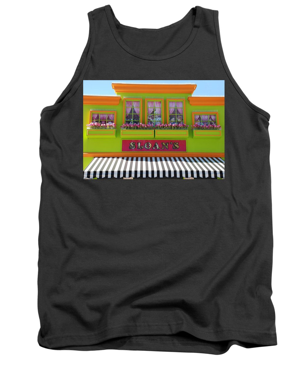 Architecture Tank Top featuring the photograph Sloans by Rob Hans