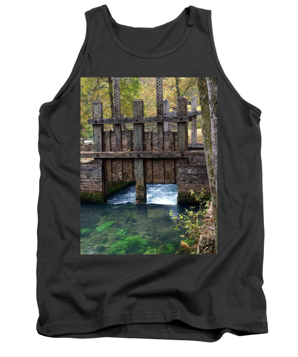Alley Spring Tank Top featuring the photograph Sluce Gate by Marty Koch