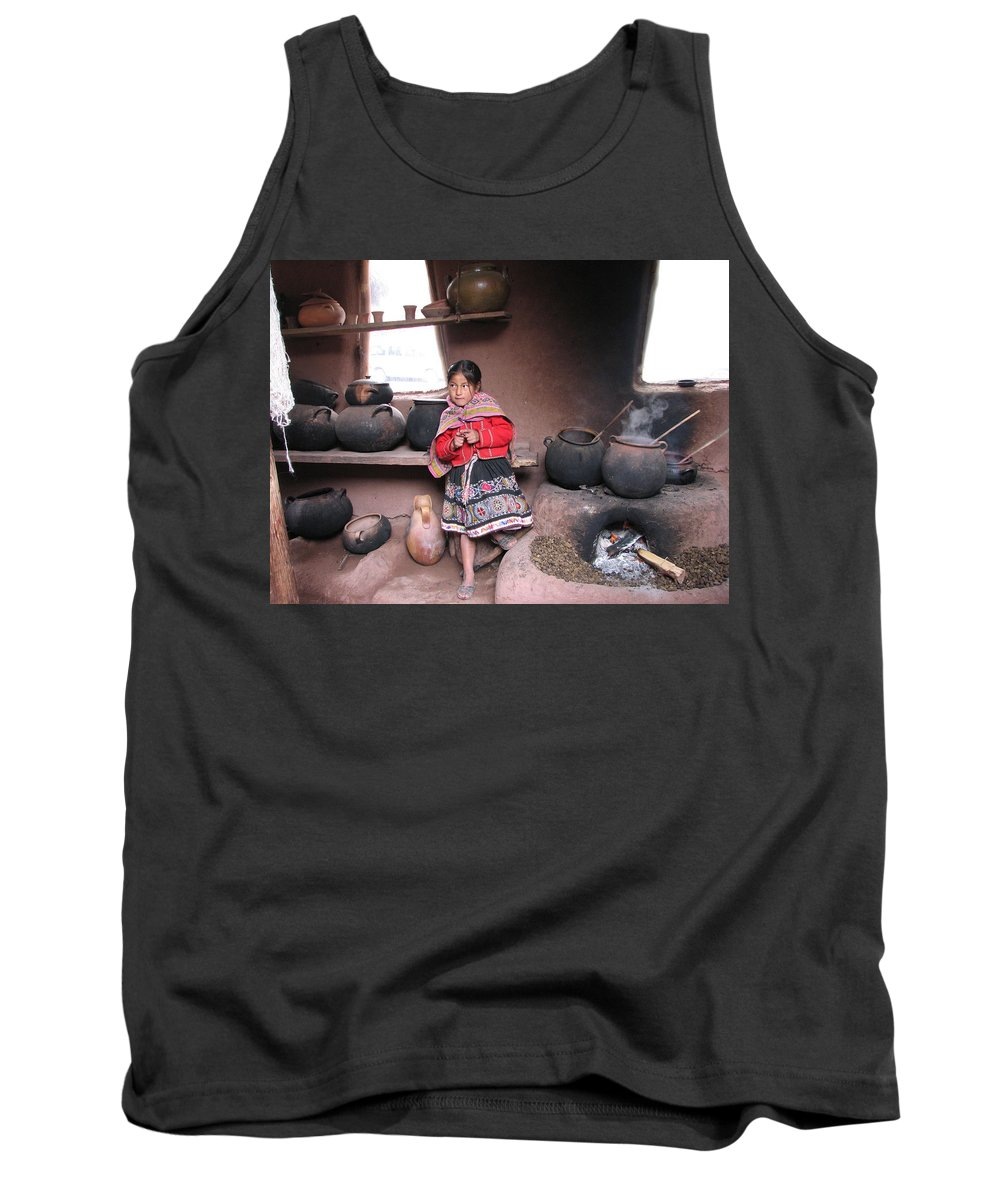Portrait Tank Top featuring the photograph Small Girl by Sandra Bourret