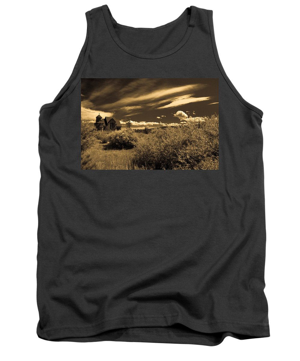 Church Tank Top featuring the photograph Small Town Church by Marilyn Hunt