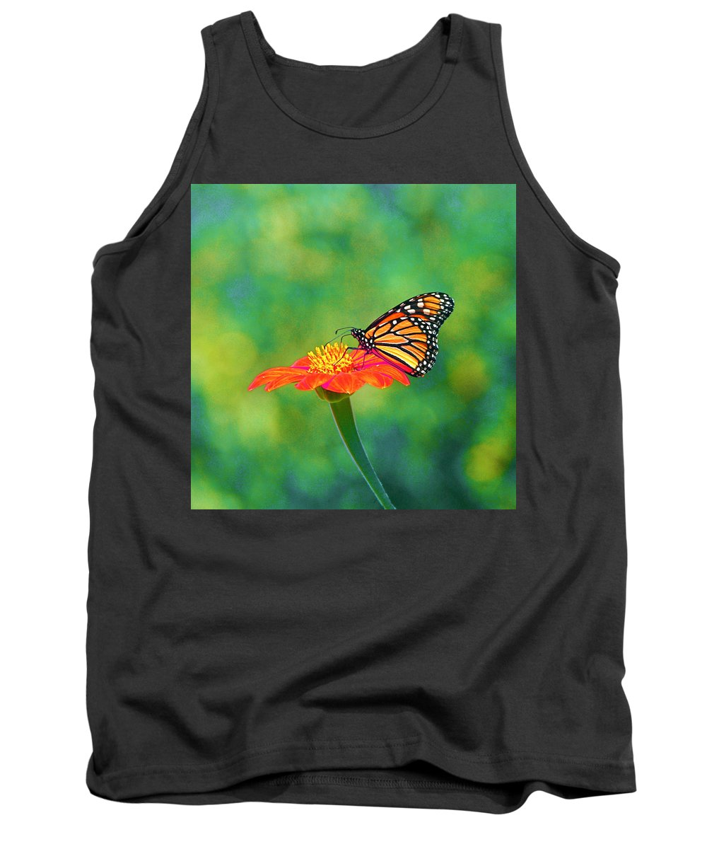 Monarch Tank Top featuring the photograph Small Wonders by Byron Varvarigos