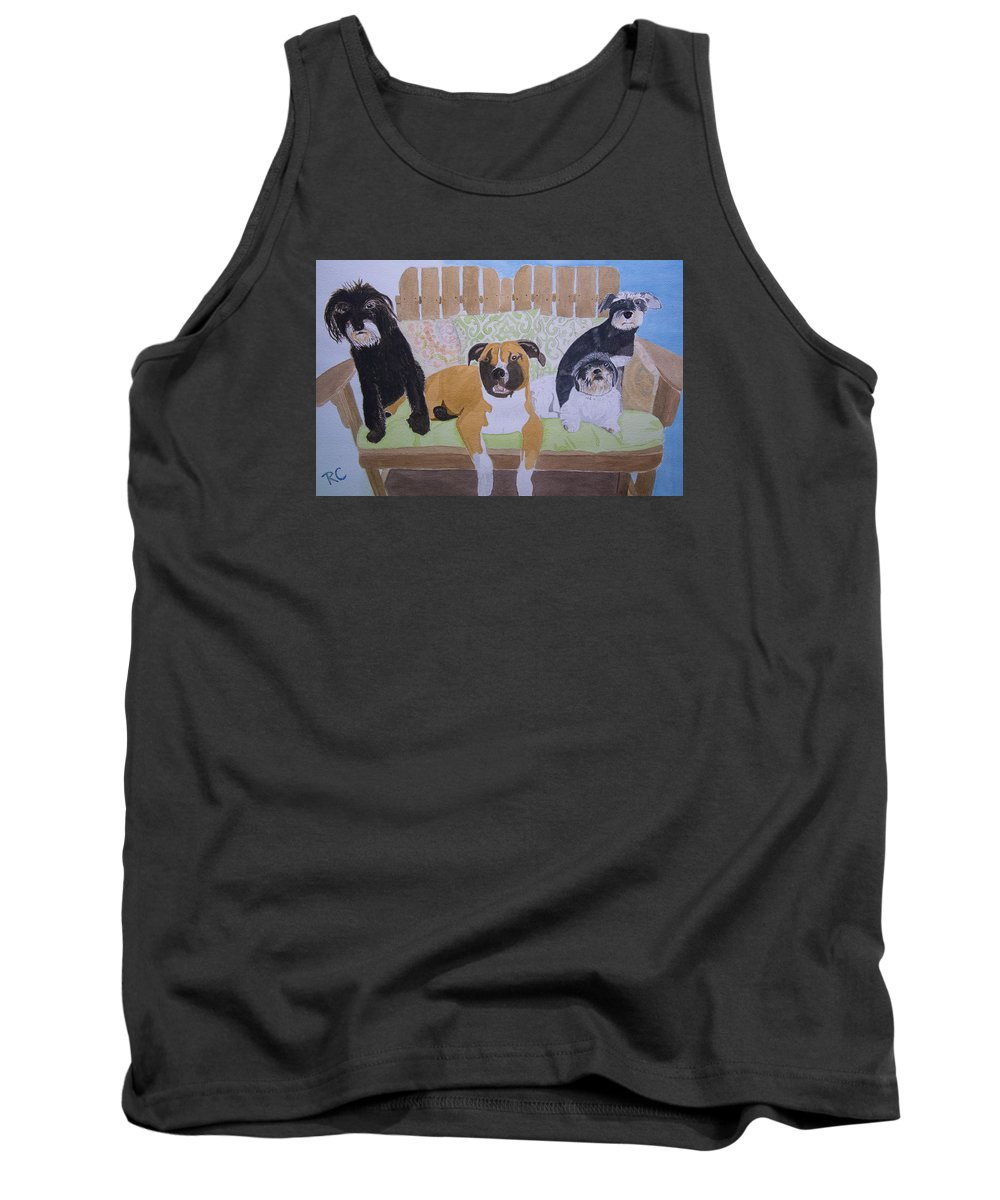 Rescued Animals Tank Top featuring the painting S.m.a.w.l Fosters by Russ Cahn