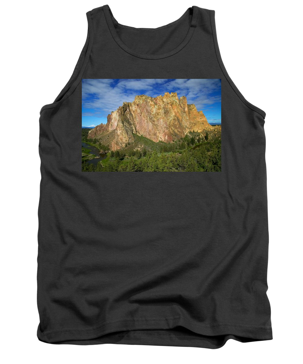 Landscape Tank Top featuring the photograph Smith Rock Oregon by Randall Ingalls