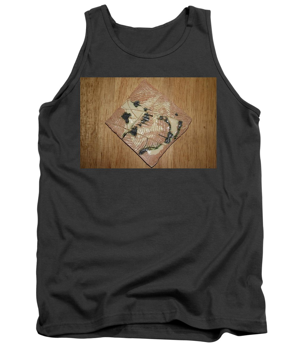 Jesus Tank Top featuring the ceramic art Smoky - Tile by Gloria Ssali