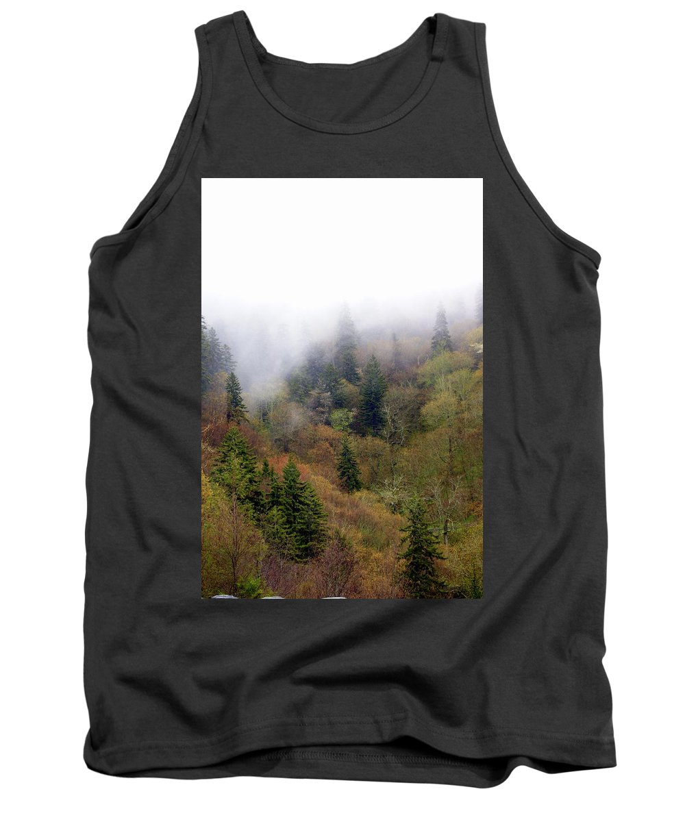 Fog Tank Top featuring the photograph Smoky Mount Vertical by Marty Koch