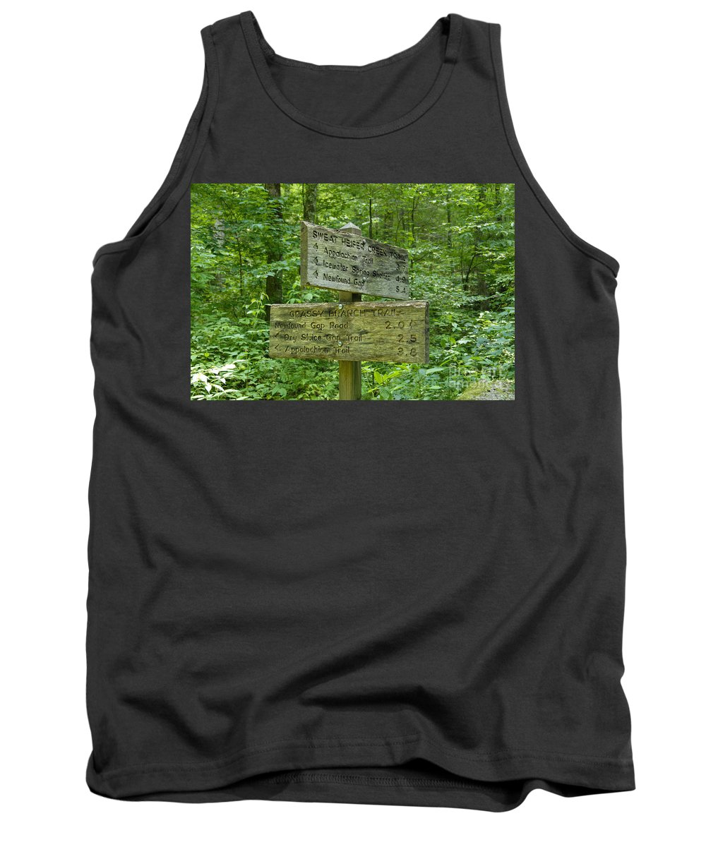 Smoky Mountain National Park Tank Top featuring the photograph Smoky Mountain Directional by David Lee Thompson
