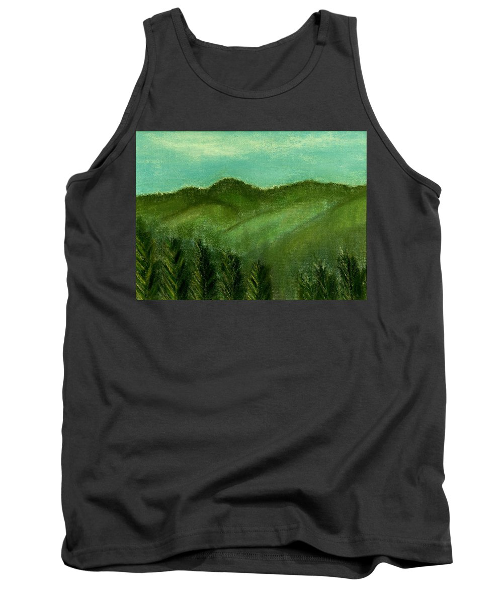 Trees Tank Top featuring the painting Smoky Mountains by Melvin Moon