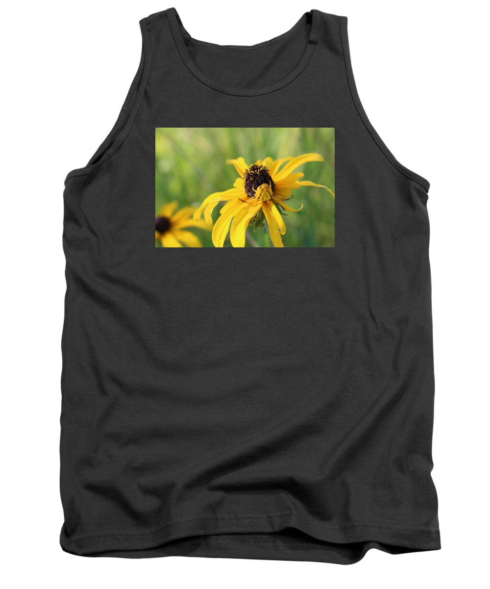 Spider Tank Top featuring the photograph Sneaky Spider by Jessica Fronabarger