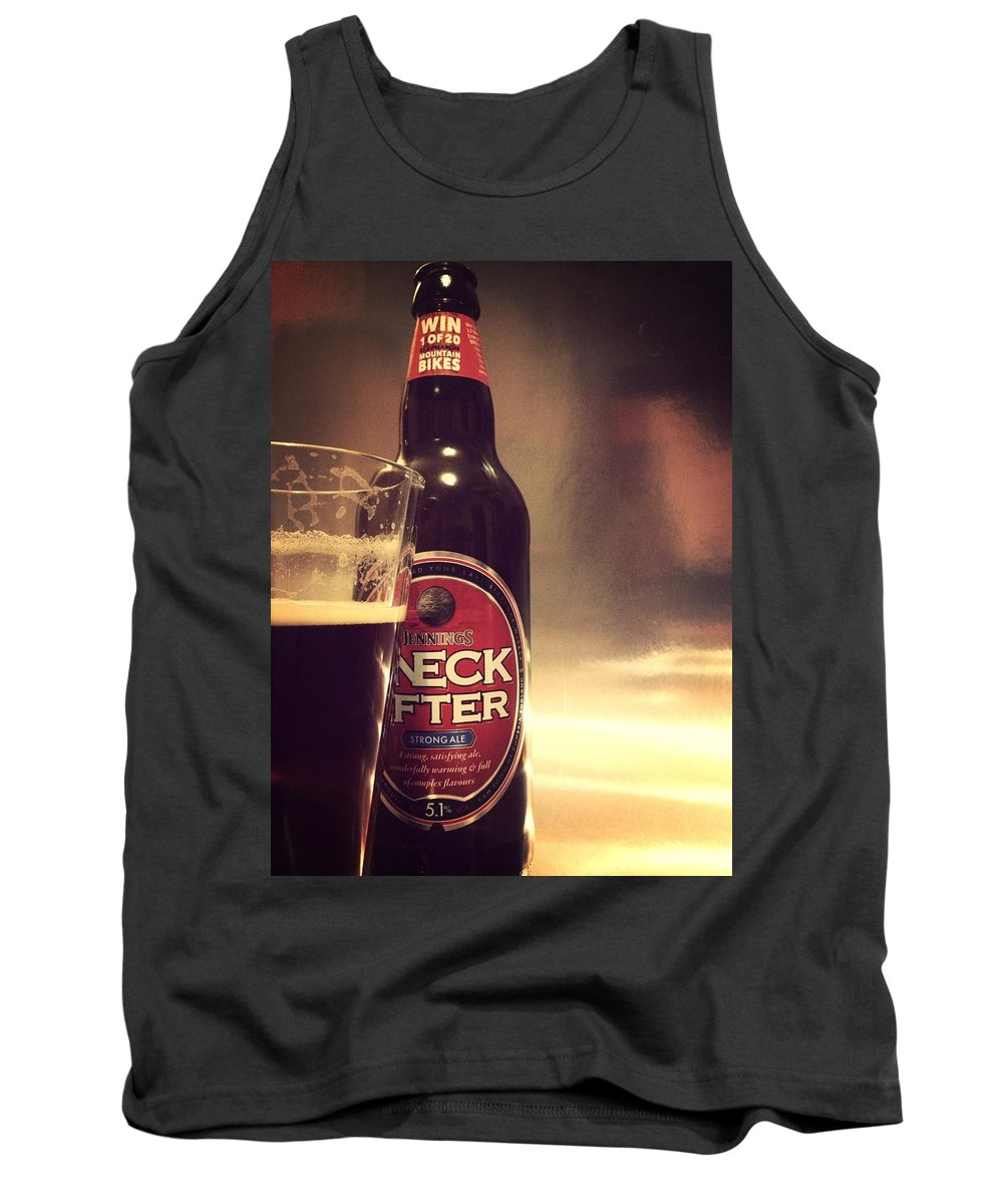 sneck Lifter Beer Bottle beer Bottle Alcohol Drink Tank Top featuring the photograph A Cheeky Sneck Lifter by In Plain Sight
