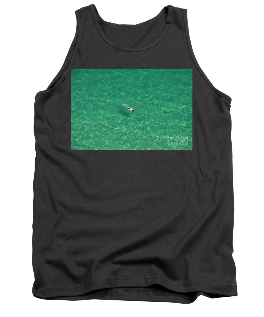 Snorkeling Tank Top featuring the photograph Snorkeling by David Lee Thompson