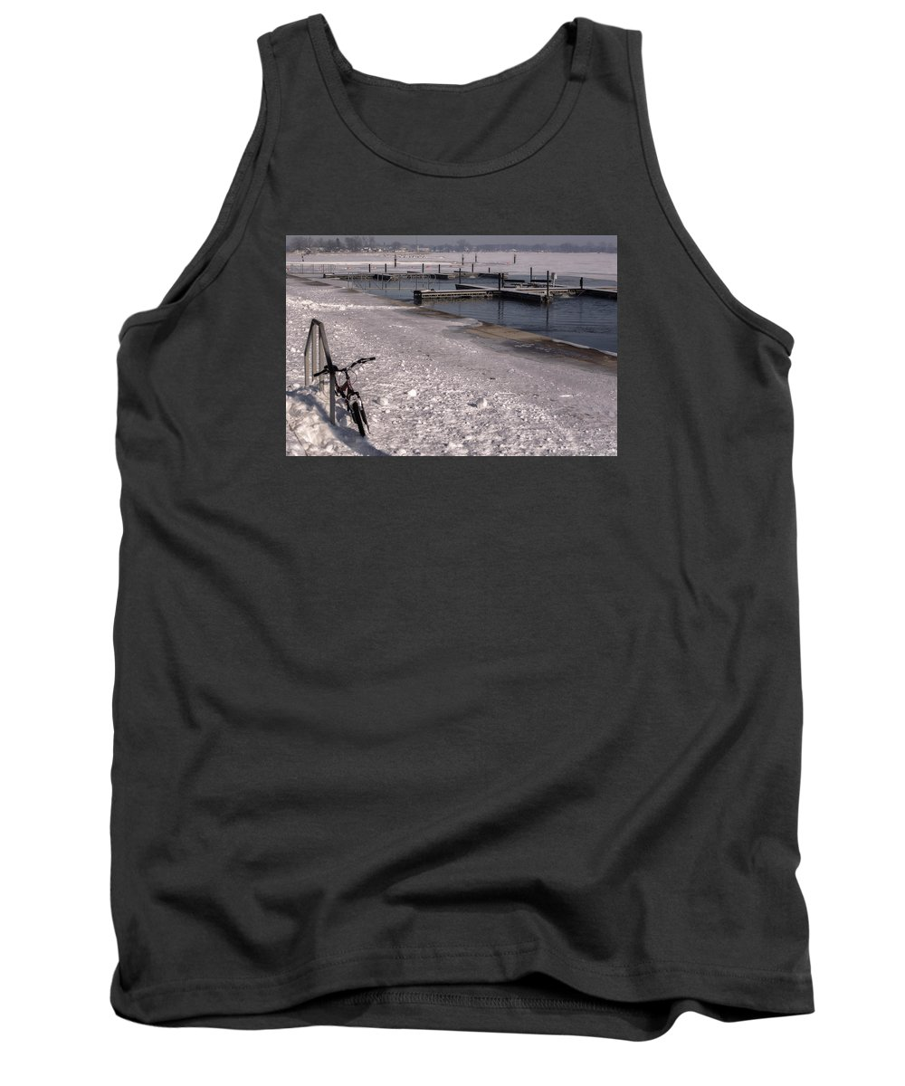 Bicycle Tank Top featuring the photograph Snow And Ice by Tim The Bikeman