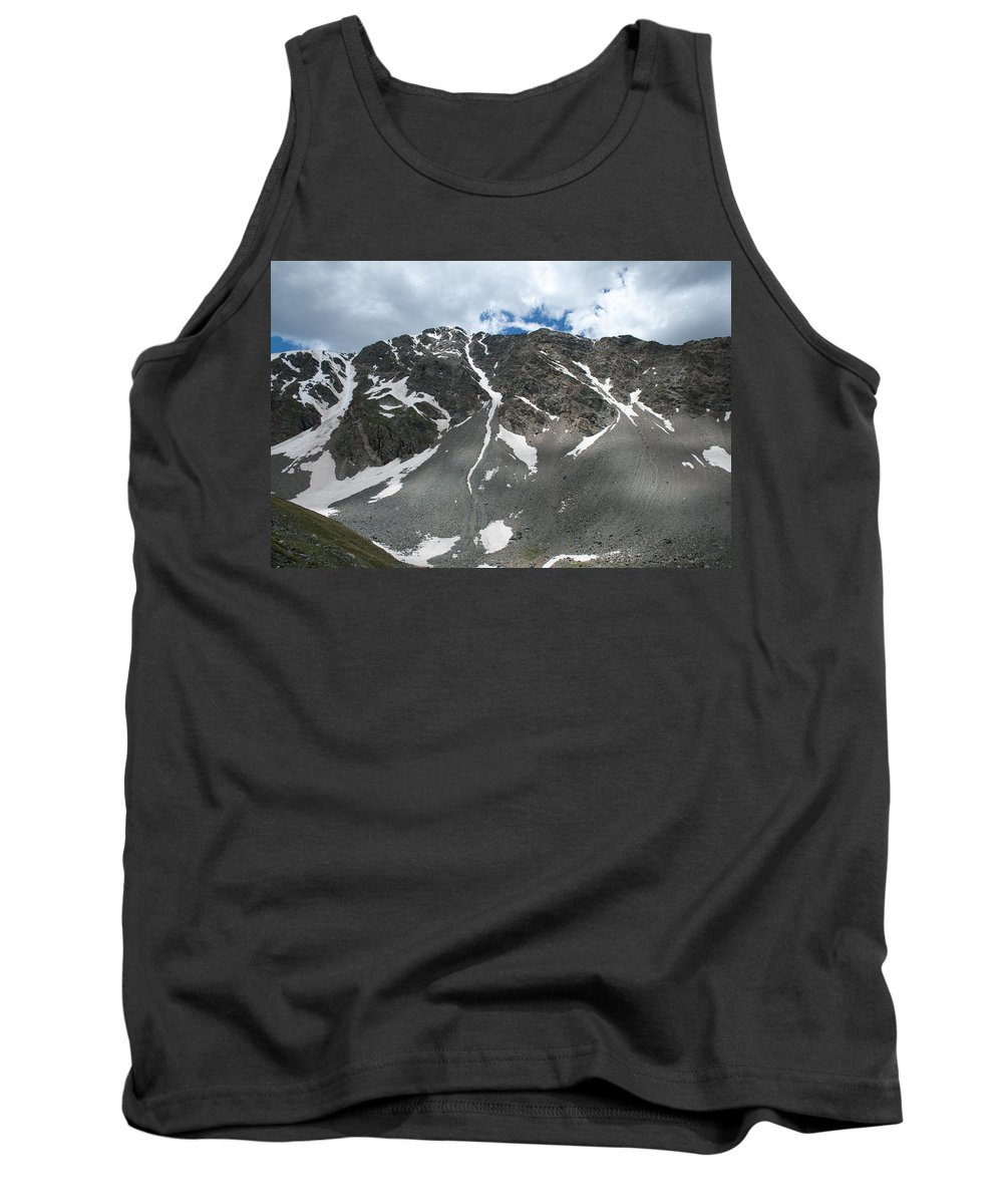 Mountains Tank Top featuring the photograph Snow And Rock by Angus Hooper Iii