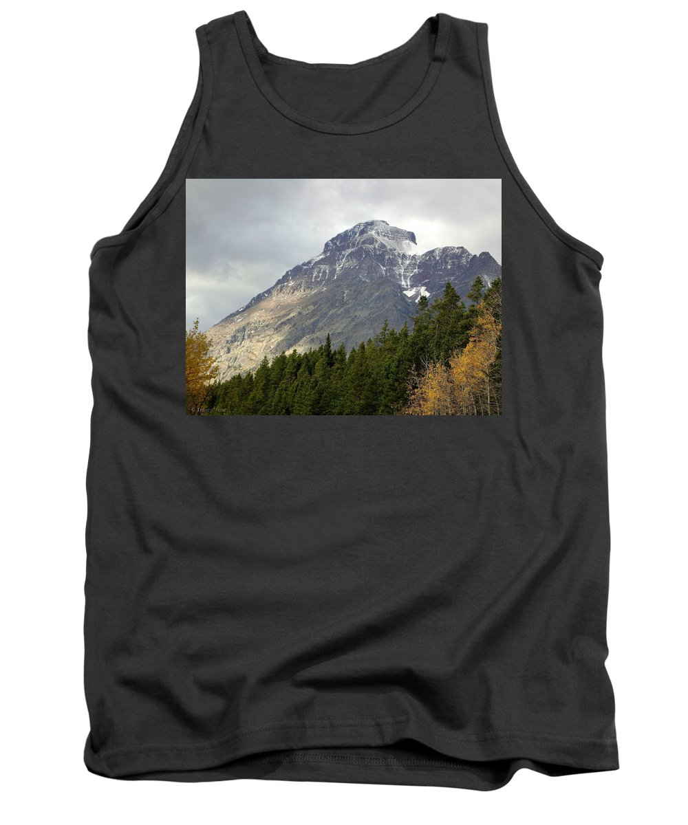 Rising Wolf Mountain Tank Top featuring the photograph Snow Kissed Giant by Tracey Vivar