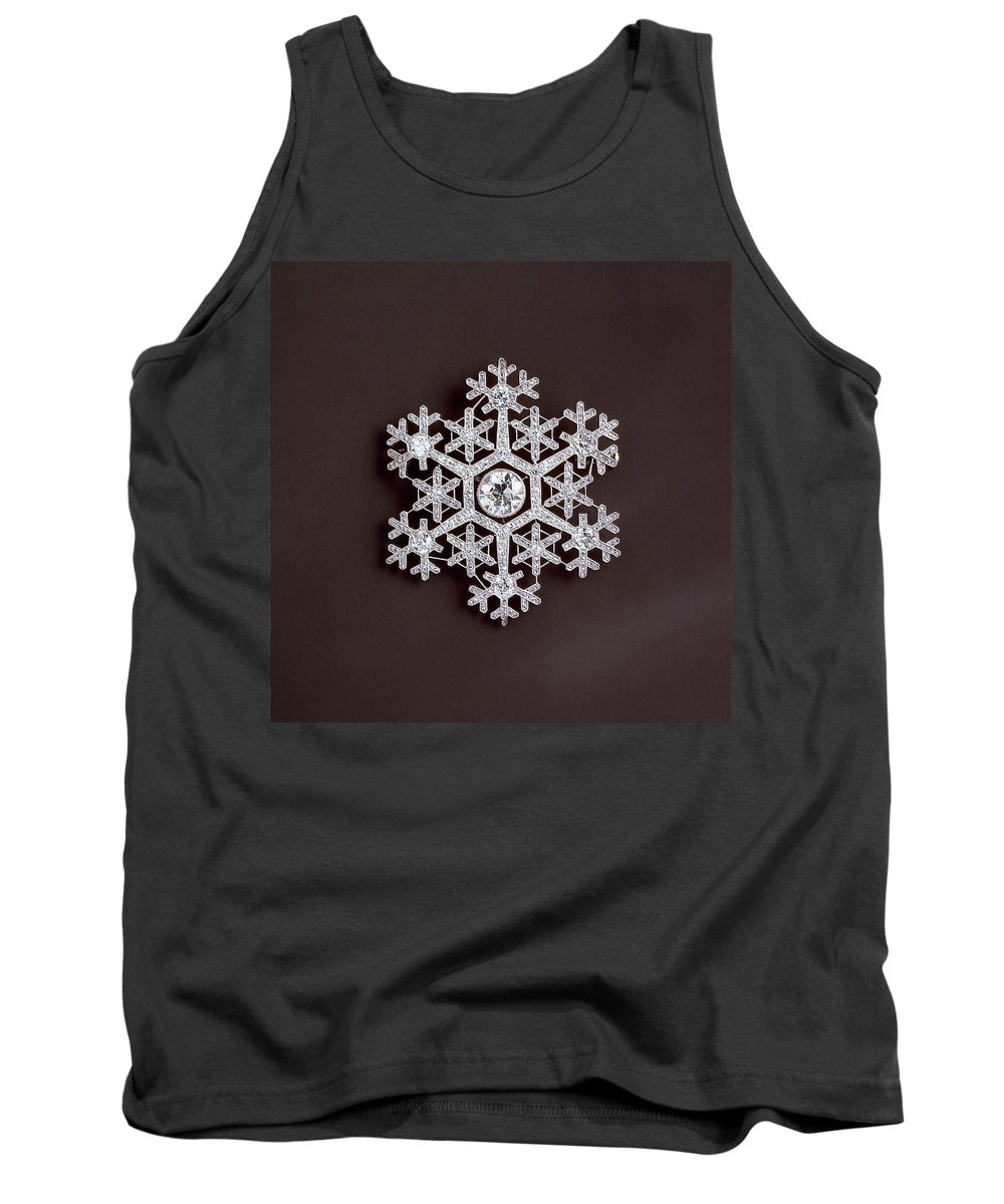 Snowflake Tank Top featuring the photograph snowflake II by Dragica Micki Fortuna