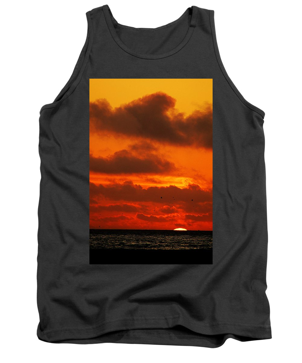 Clay Tank Top featuring the photograph Socal Sunset by Clayton Bruster