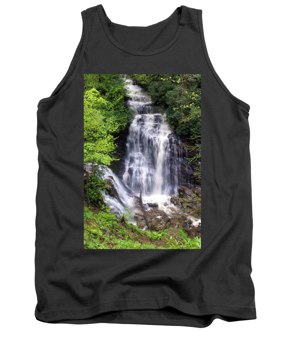 Soco Galls Tank Top featuring the photograph Soco Falls 1 by Marty Koch