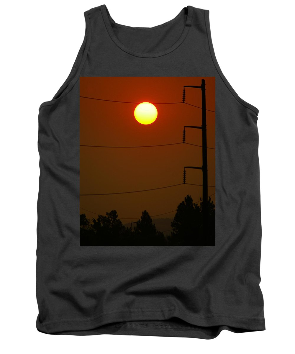 Nature Tank Top featuring the photograph Solar Power Lines by Ben Upham III