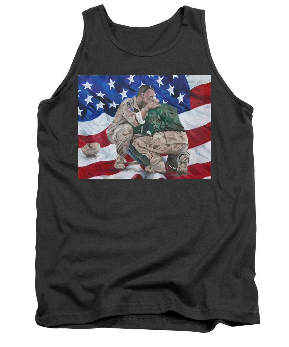 Soldiers Tank Top featuring the painting Soldiers by Travis Day