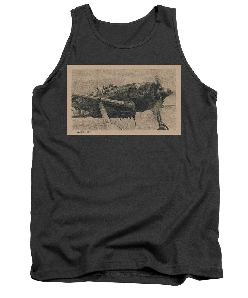 Fw 190 Tank Top featuring the drawing Solid Brass by Wade Meyers