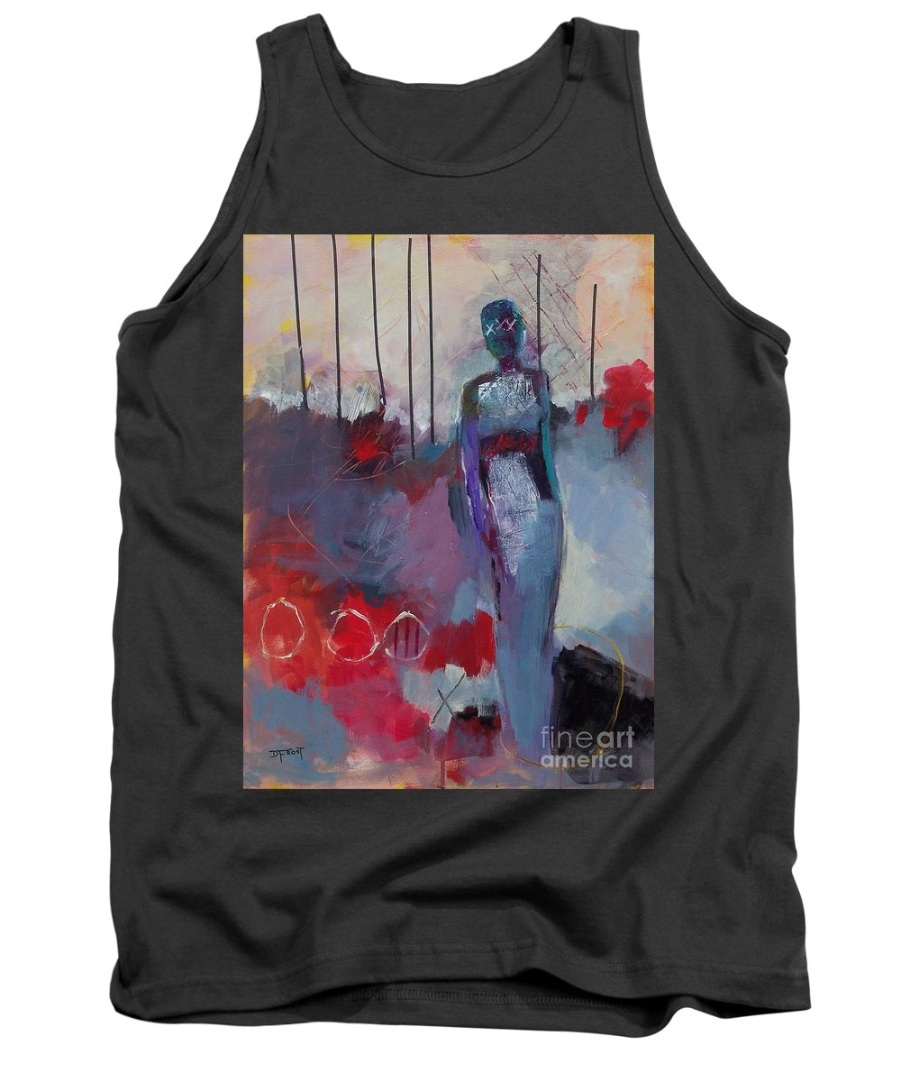 Abstract Expressionism Tank Top featuring the painting Solitude 006 by Donna Frost