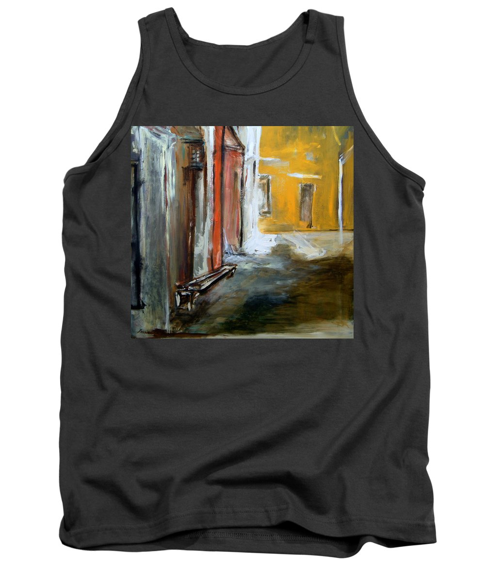 Easter Tank Top featuring the painting Solitude by Rome Matikonyte