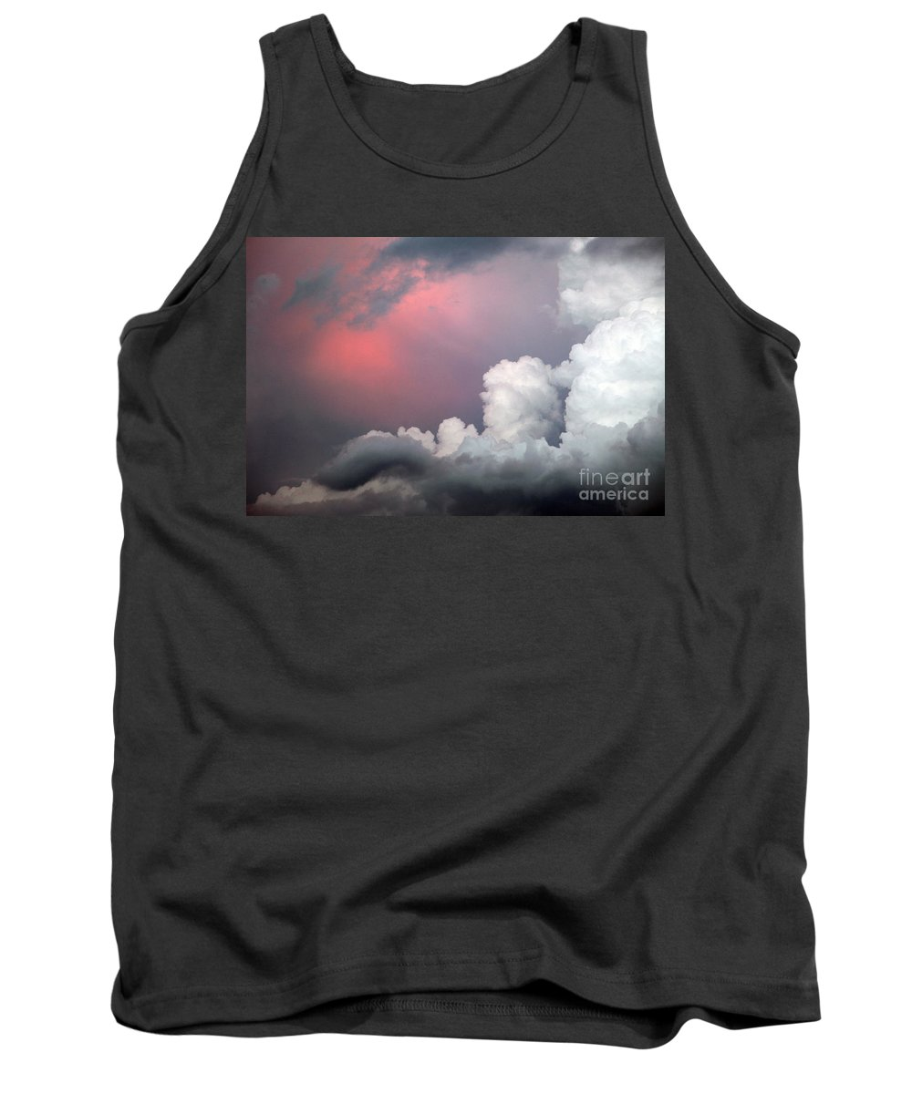 Cloud Tank Top featuring the photograph Something In The Clouds by Amanda Barcon