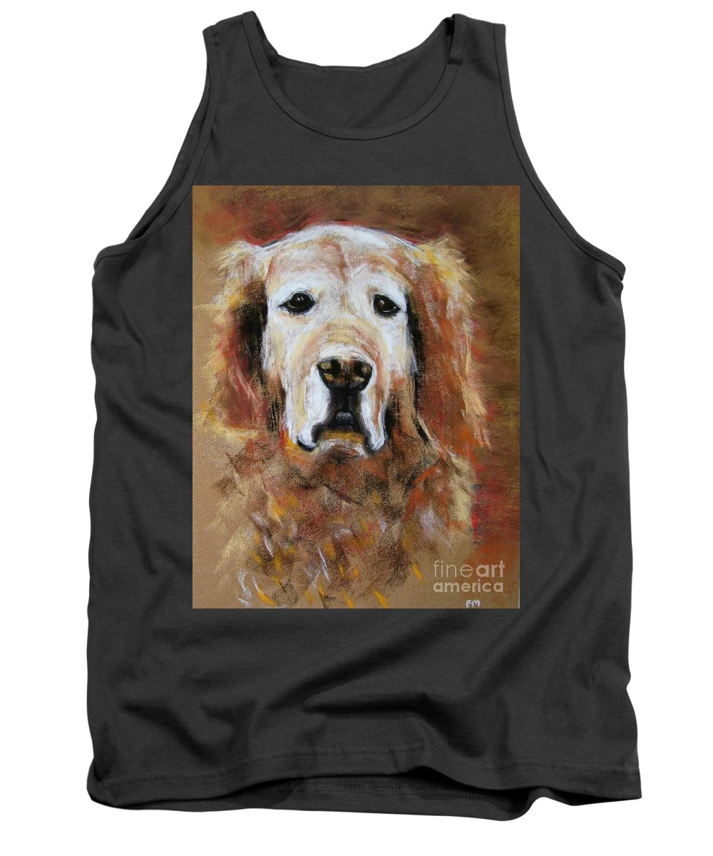 Golden Tank Top featuring the painting Sonny by Frances Marino
