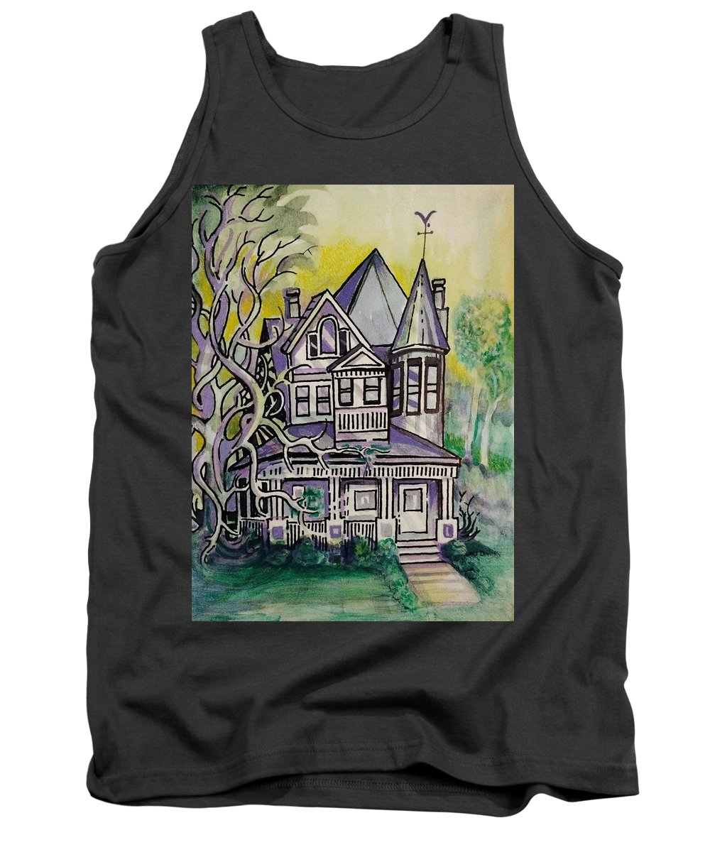 House Tank Top featuring the mixed media South Bound by Walter M Davis