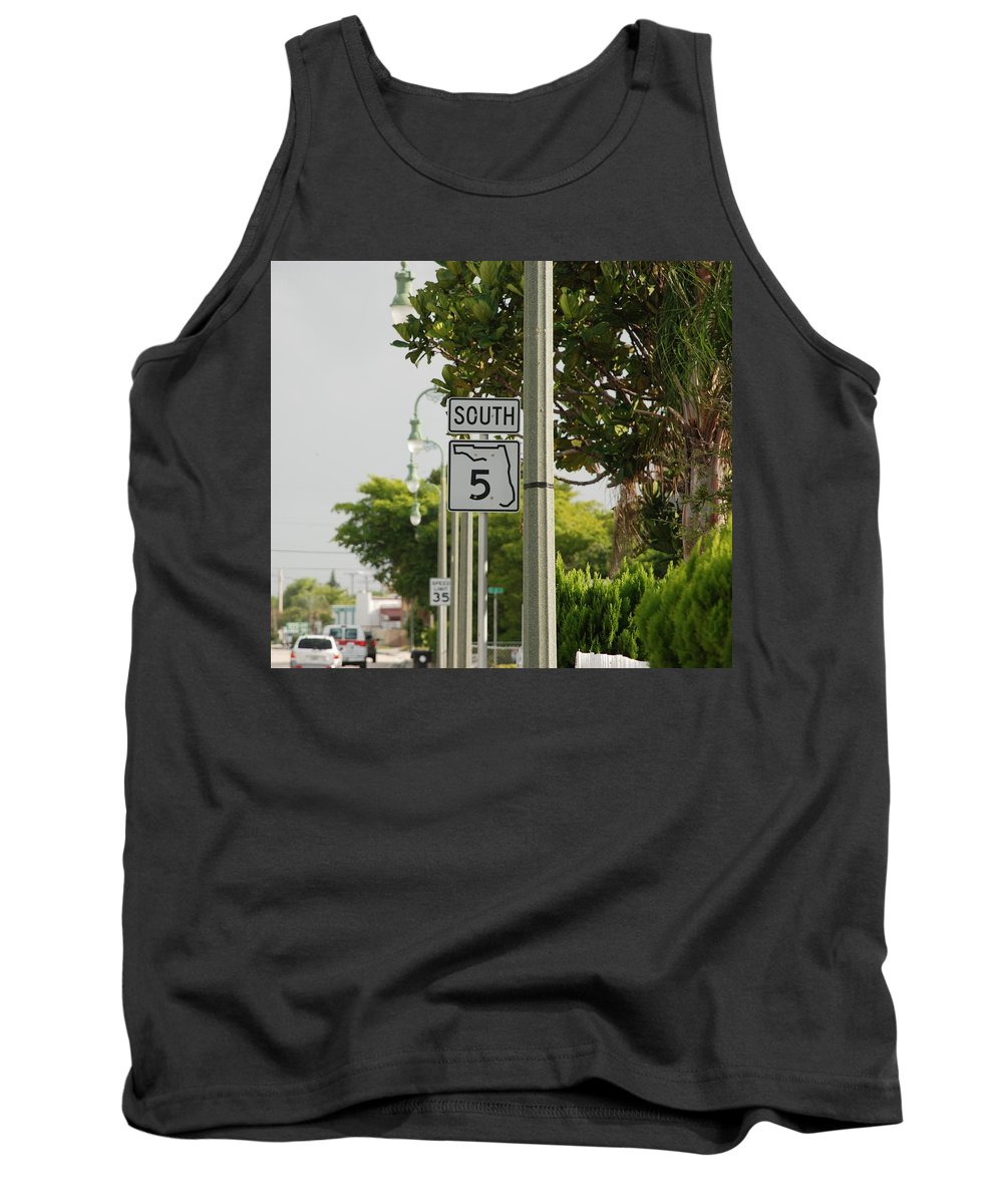 South Tank Top featuring the photograph South Florida 5 by Rob Hans