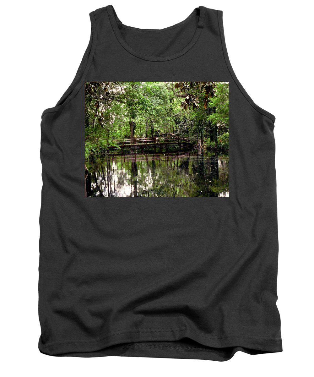 Bridge Tank Top featuring the photograph Plantation Living by Gary Wonning