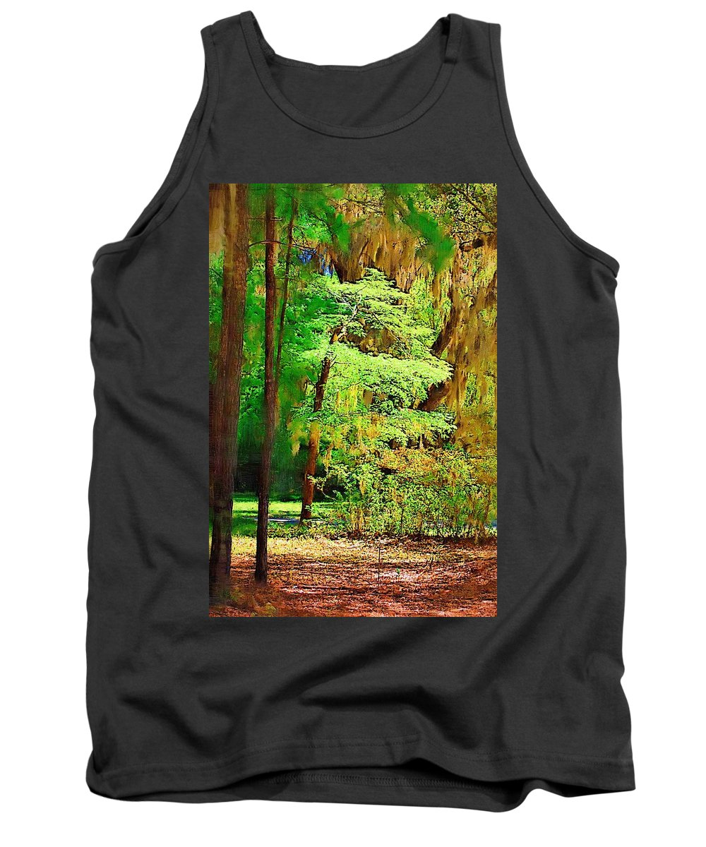 Woods Tank Top featuring the photograph Southern Forest by Donna Bentley