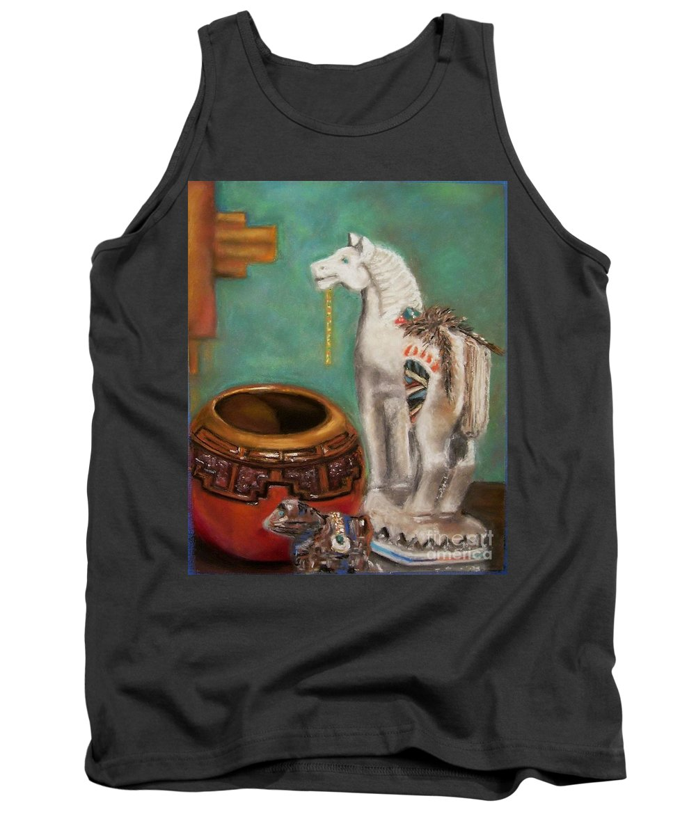 Southwest Art Tank Top featuring the painting Southwest Treasures by Frances Marino
