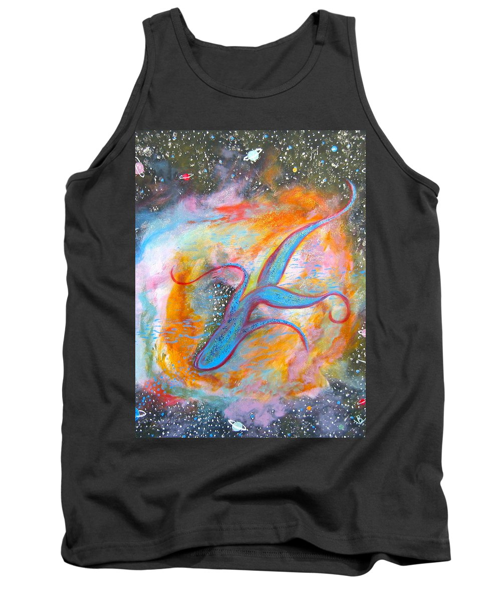 Space Tank Top featuring the painting Space Ocean by V Boge