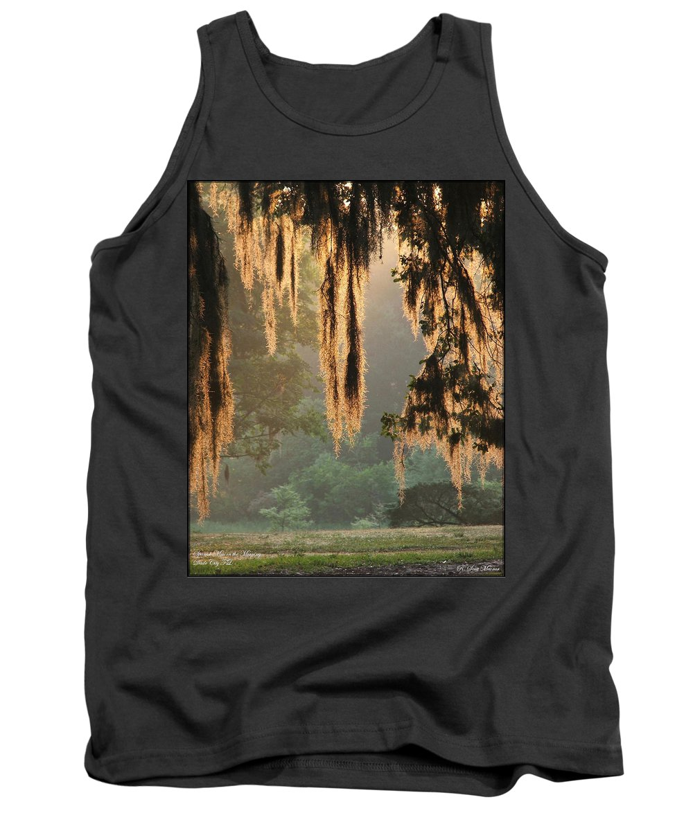 Spanish Moss Tank Top featuring the photograph Spanish Moss In The Morning by Robert Meanor