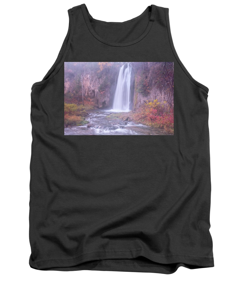 Spearfish Falls Tank Top featuring the photograph Spearfish Falls by Angela Moyer