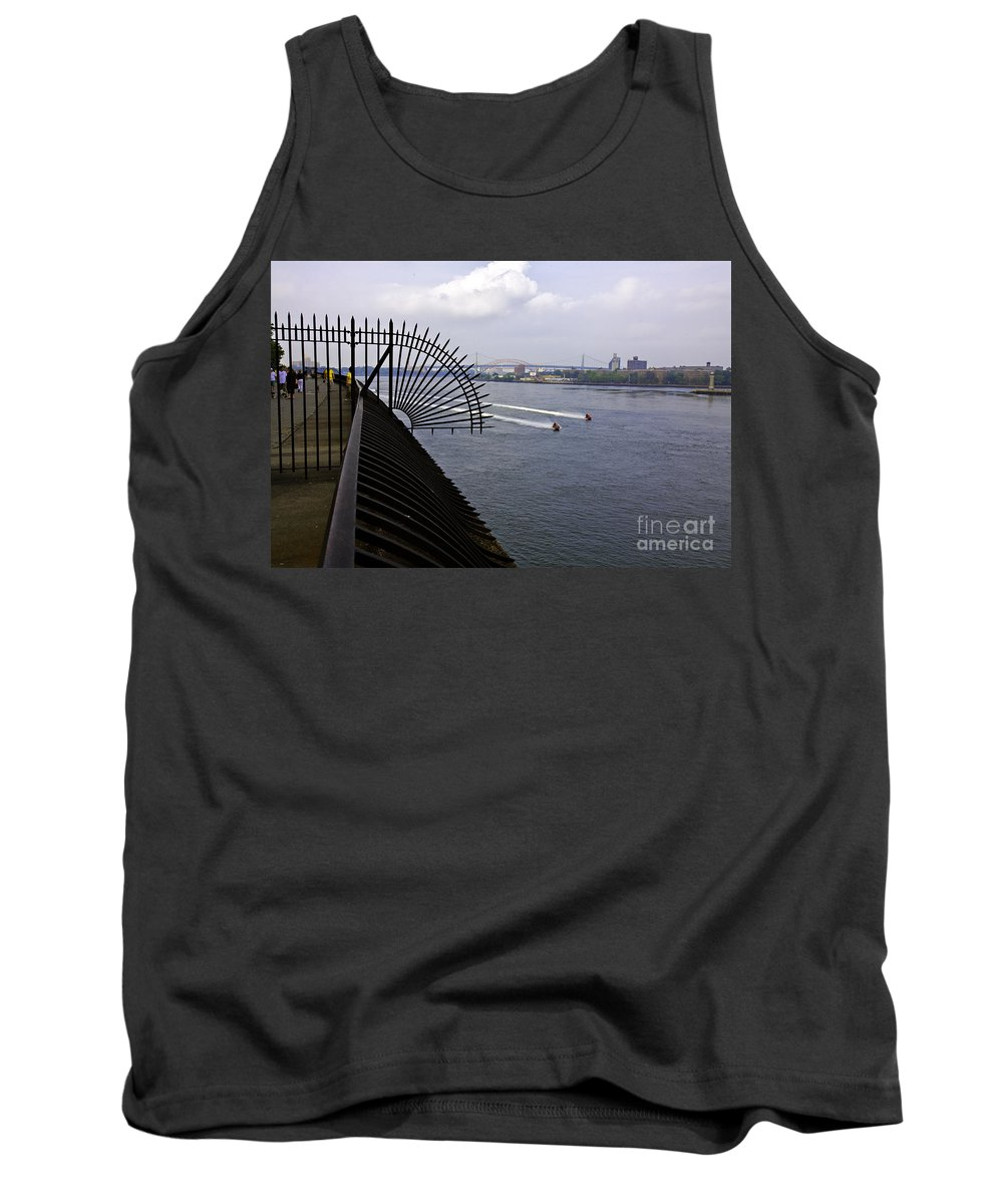 East River Tank Top featuring the photograph Speed Boats On The East River by Madeline Ellis