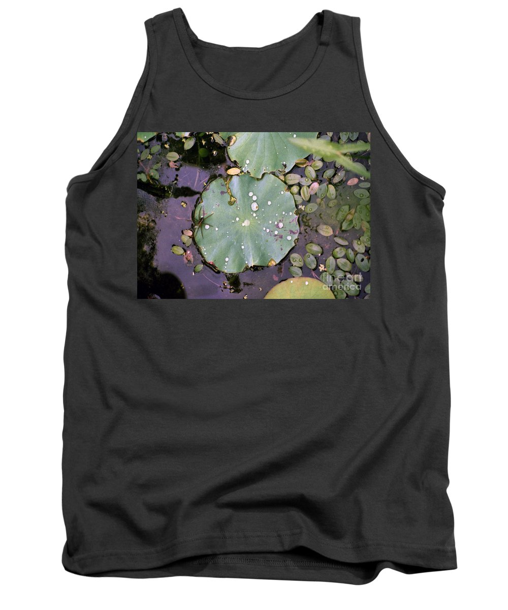 Lillypad Tank Top featuring the photograph Spider And Lillypad by Richard Rizzo