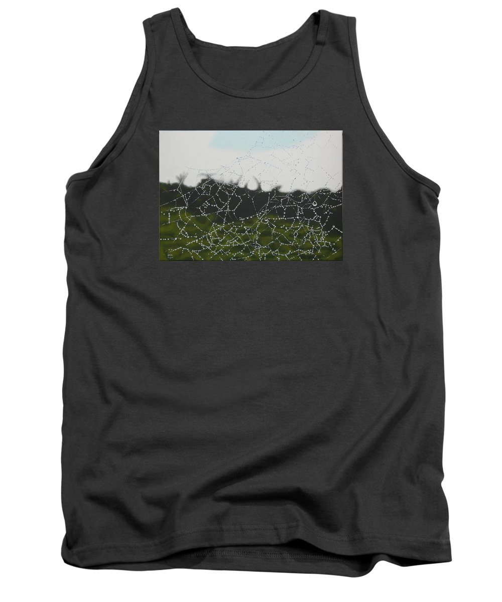 Drops Tank Top featuring the painting Spiderweb by Marianna Hoefle