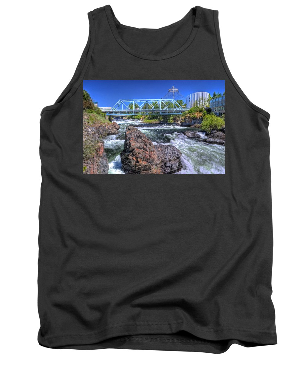 Spokane Tank Top featuring the photograph Spokane Falls 2 by Lee Santa