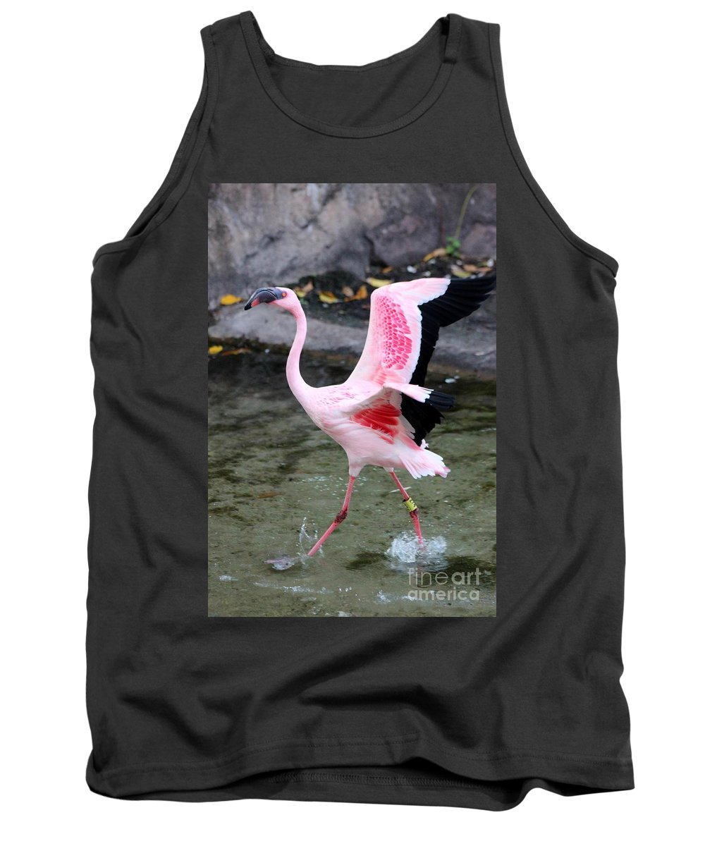 Flamingo Tank Top featuring the photograph Spread Them by Mesa Teresita