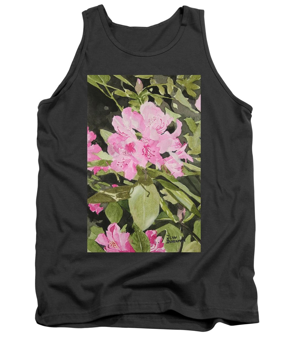 Flowers Tank Top featuring the painting Spring At The Cabin by Jean Blackmer