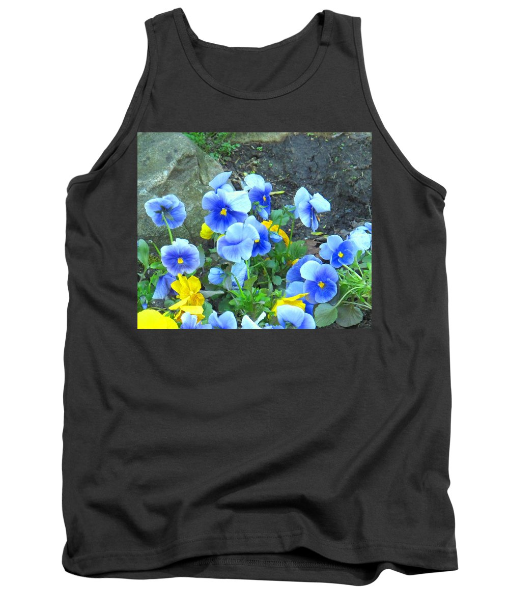 Blue Tank Top featuring the photograph Spring Beauties by Ian MacDonald