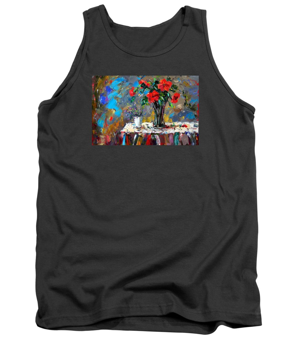 Flowers Tank Top featuring the painting Spring Blooms by Debra Hurd