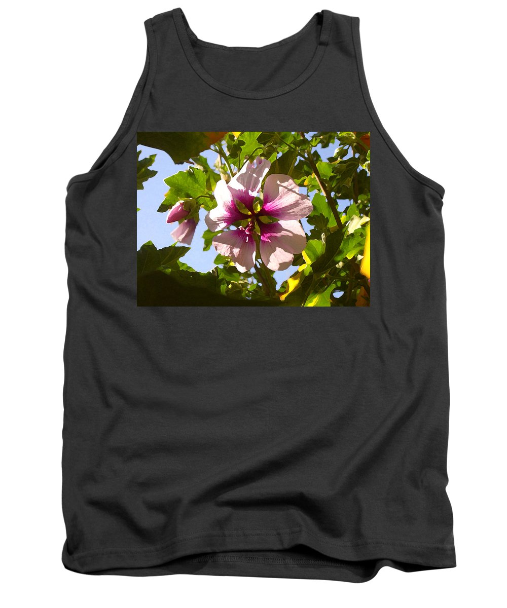 Flower Tank Top featuring the painting Spring Flower Peeking Out by Amy Vangsgard
