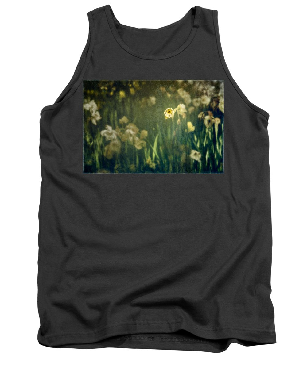 Botanical Tank Top featuring the photograph Spring Garden With Narcissus Flowers by Peter v Quenter
