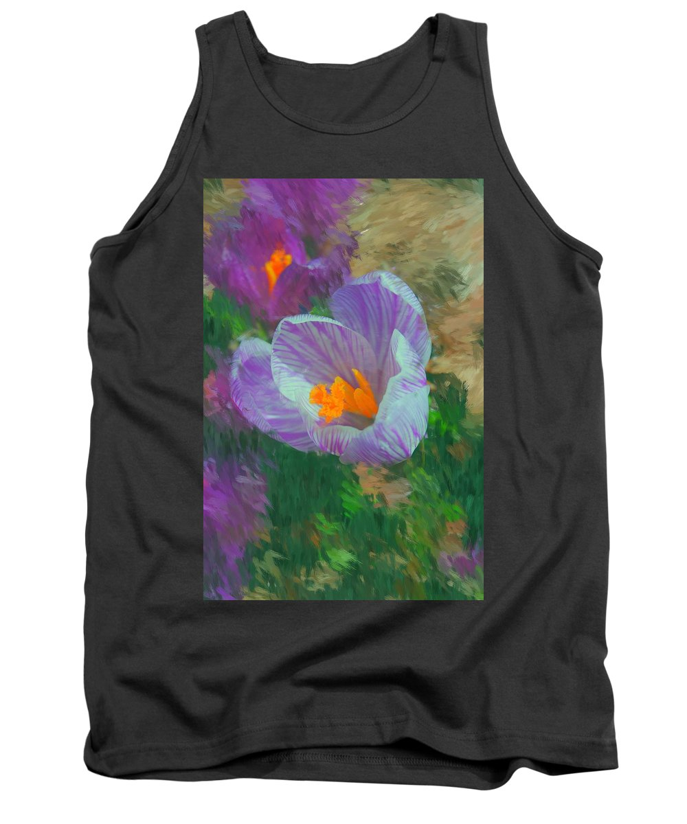 Digital Photography Tank Top featuring the digital art Spring Has Sprung by David Lane