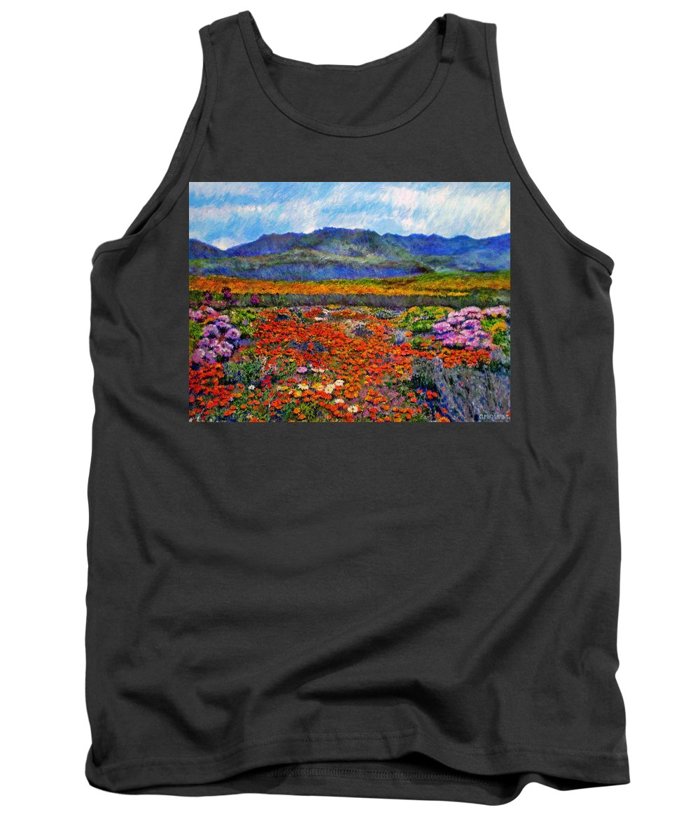 Spring Tank Top featuring the painting Spring In Namaqualand by Michael Durst
