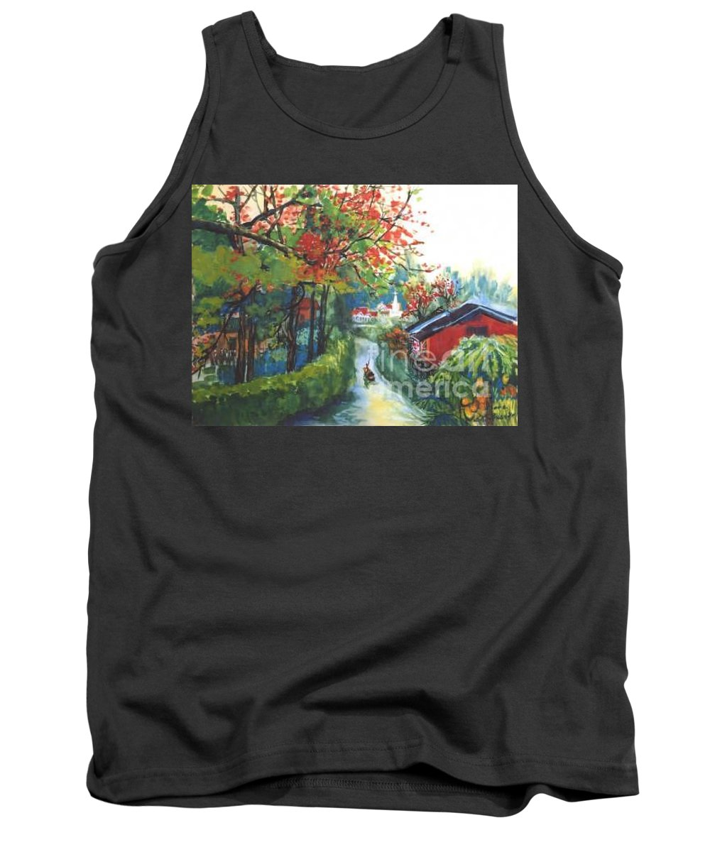 Spring Tank Top featuring the painting Spring In Southern China by Guanyu Shi