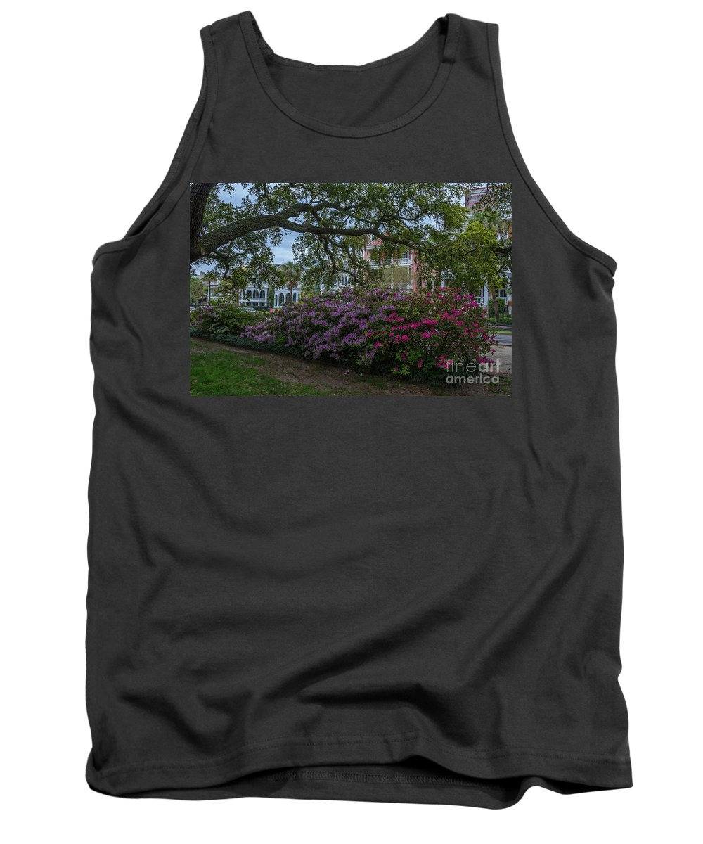 Spring Tank Top featuring the photograph Spring In White Point Gardens by Dale Powell